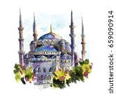 st. sophia cathedral. istanbul  ... | Shutterstock . vector #659090914