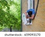 installation of air...   Shutterstock . vector #659093170
