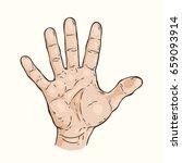 vector hand drawn illustration... | Shutterstock .eps vector #659093914