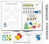 figure five. dot to dot... | Shutterstock .eps vector #659094850