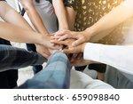 team work concept. business... | Shutterstock . vector #659098840
