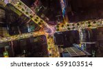 aerial night view of a famous...   Shutterstock . vector #659103514
