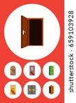 flat icon approach set of... | Shutterstock .eps vector #659103928