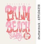palm beach california t shirt... | Shutterstock .eps vector #659106358