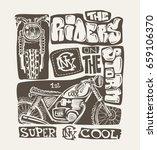 cool motorcycle print design ... | Shutterstock .eps vector #659106370