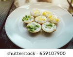 traditional thai desserts with...   Shutterstock . vector #659107900