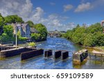 galway  ireland and the river... | Shutterstock . vector #659109589