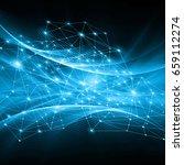 best internet concept of global ... | Shutterstock . vector #659112274