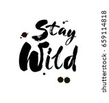 stay wild hand written... | Shutterstock .eps vector #659114818