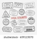 set of different international... | Shutterstock .eps vector #659115070