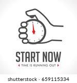 logo   stopwatch in hand  ... | Shutterstock .eps vector #659115334