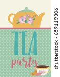 tea party greeting or... | Shutterstock .eps vector #659119306