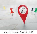 you are here locator symbol on... | Shutterstock . vector #659121046