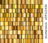 set of realistic gold gradients.... | Shutterstock .eps vector #659121430