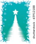 abstract christmas tree with... | Shutterstock .eps vector #65912188