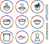 soup icons set. set of 9 soup... | Shutterstock .eps vector #659124250