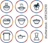 soup icons set. set of 9 soup... | Shutterstock .eps vector #659124250