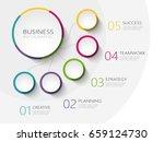 modern abstract 3d infographic... | Shutterstock .eps vector #659124730
