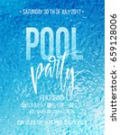pool party poster with blue... | Shutterstock .eps vector #659128006