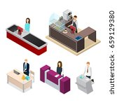 receptionists people set... | Shutterstock .eps vector #659129380