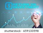 roi  return on investment... | Shutterstock . vector #659133598