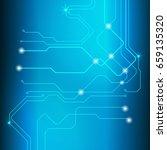 abstract blue hi tech circuit... | Shutterstock .eps vector #659135320