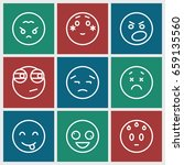 mood icons set. set of 9 mood...   Shutterstock .eps vector #659135560