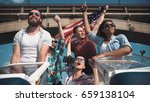 emotional group of mixed ethnic ... | Shutterstock . vector #659138104