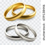 vector wedding rings | Shutterstock .eps vector #659138446
