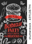 barbecue party invitation.... | Shutterstock .eps vector #659138794