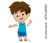 cute boy welcome.vector and...   Shutterstock .eps vector #659138983