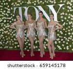 Small photo of New York, NY USA - June 11, 2017: Members of Radion City Music Hall Rockettes attend Tony awards 2017 at Radio City Music Hall