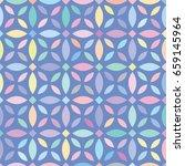 vector color flower pattern.... | Shutterstock .eps vector #659145964