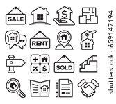 set of real estate   property... | Shutterstock .eps vector #659147194