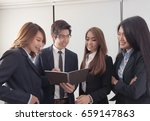 business concept   group of... | Shutterstock . vector #659147863