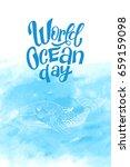 world ocean day motivation... | Shutterstock .eps vector #659159098