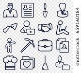 job icons set. set of 16 job... | Shutterstock .eps vector #659160184
