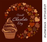 world chocolate day. july 11.... | Shutterstock .eps vector #659161819