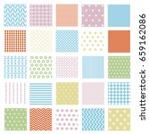 seamless geometric patterns...   Shutterstock .eps vector #659162086