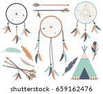 tribal dream catchers 3 | Shutterstock .eps vector #659162476