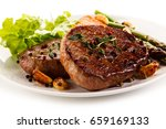 Grilled Beef Steaks With...