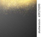 golden falling glittering dust... | Shutterstock .eps vector #659170390