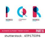 trendy alphabet icon set....   Shutterstock .eps vector #659170396