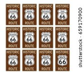 route 66 traffic sign historic... | Shutterstock .eps vector #659170900