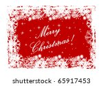 illustration of a red christmas ... | Shutterstock .eps vector #65917453