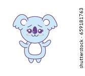 cute koala wild animal with... | Shutterstock .eps vector #659181763