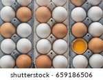 Chicken Eggs In The Cell Egg...