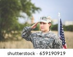 Female Army Soldier Solutes