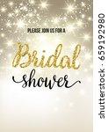 bridal shower invitation card | Shutterstock .eps vector #659192980