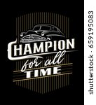 Classic Car Typography Poster...